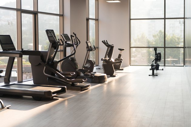 modern gym room fitness center equipment