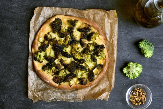 Pizza with broccoli