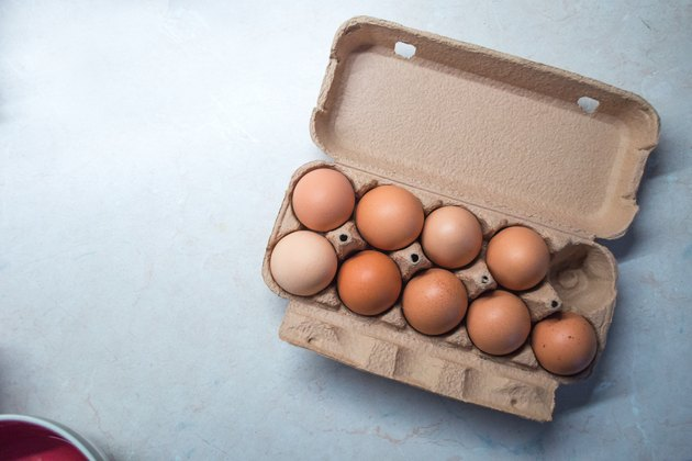 Nine Eggs in an Egg Box/Carton