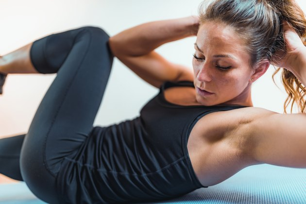 Woman Doing High-Intensity Interval Training Exercises