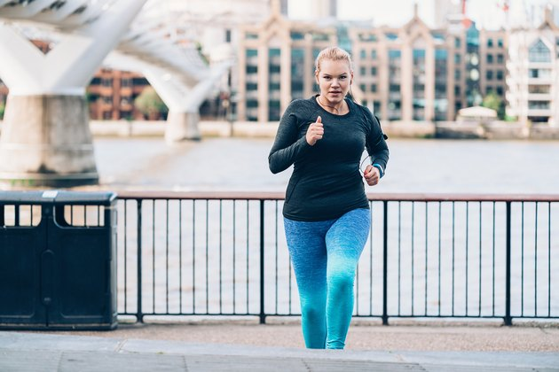 Jogging in London city