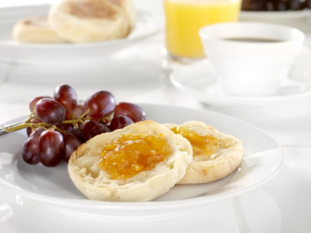 Toasted English Muffin with Orange Marmalade