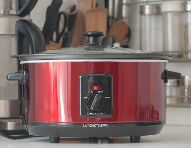 Slow Cooker on a Kitchen Counter