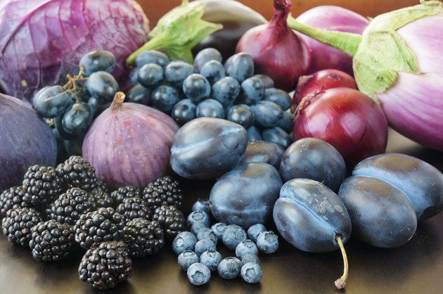 Blue and purple food