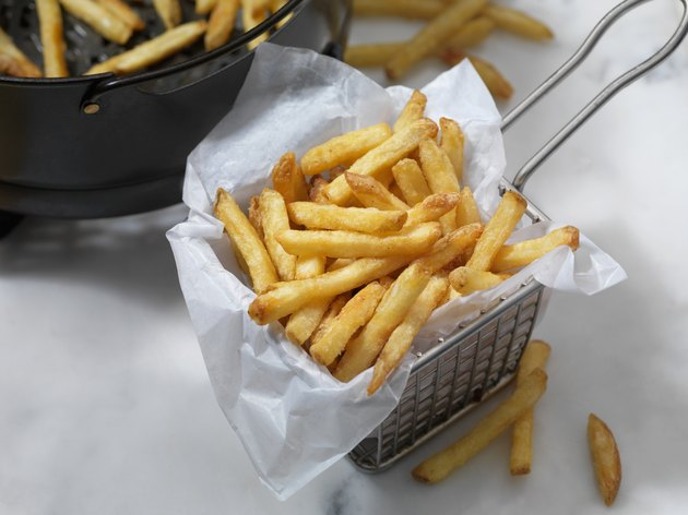 Air Fried, Crispy French Fries in basket