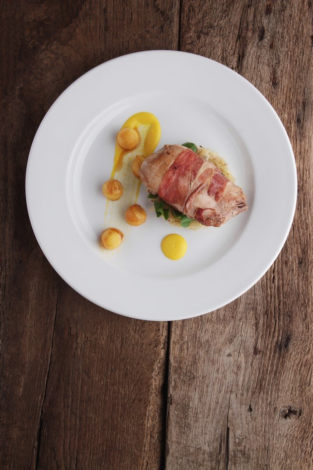 pheasant breast plated meal