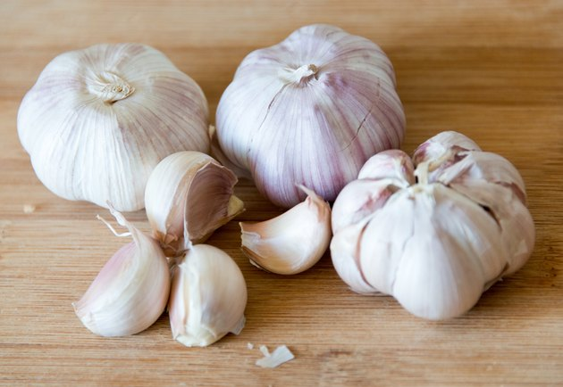 Garlic On Cutting Board