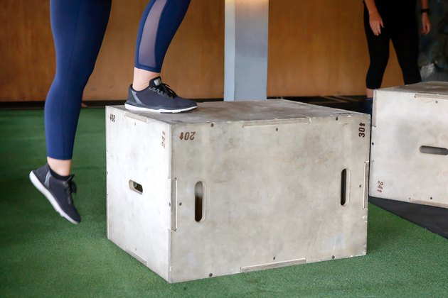Plyometric box exercises