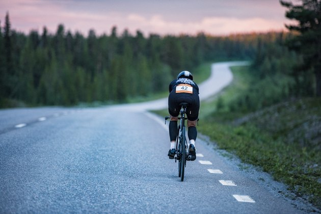 Cyclist on road