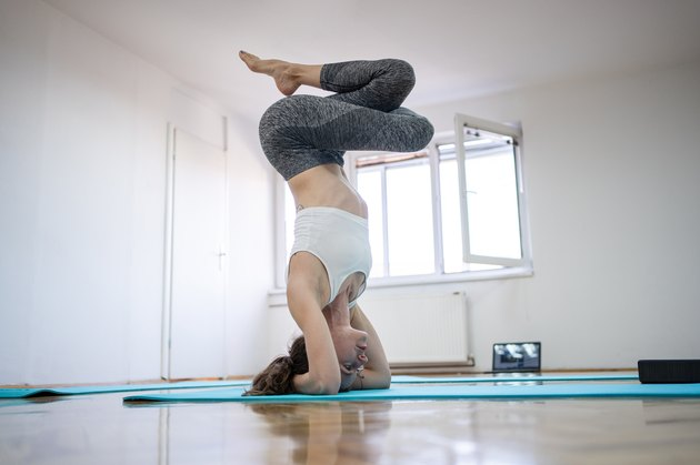 Since doing yoga she has become stronger