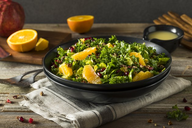 Healthy Kale Winter Salad packed with vitamin c