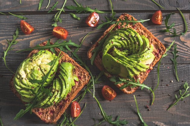 Delicious avocado sandwiches