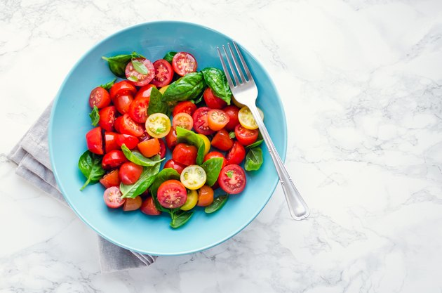 Tomatoes salad with basil
