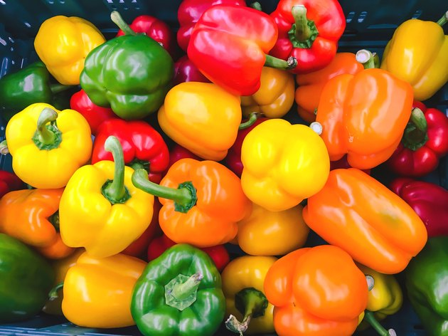 Colorful bell pepper background