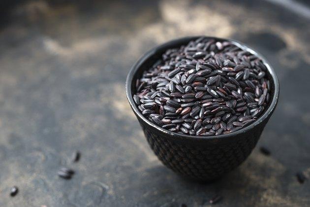 Bowl of black rice