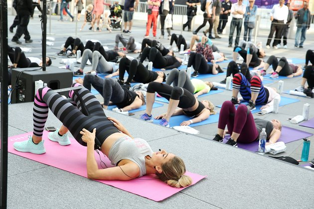 Gilt Celebrates Launch Of Anna Victoria X K-DEER Active Collection With Exclusive Workout At Oculus Plaza