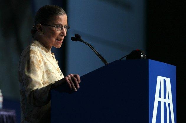 Ruth Bader Ginsburg Receives Award From American Bar Association