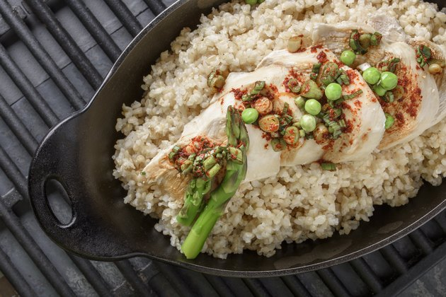 Chicken Breast over Brown Rice