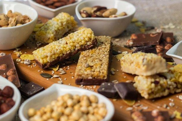 Granola Bars and mixed nuts