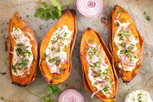 baked sweet potato healthy sweet potato recipes