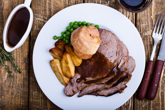 Traditional British Dishes. Sunday roast