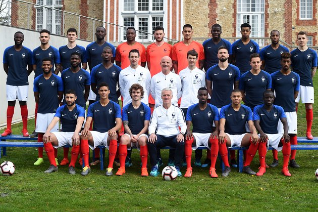 France Soccer Team Poses At Clairefontaine