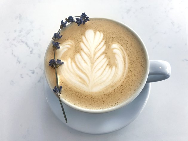 Coffee Cup on Marble Background