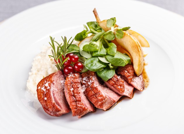 Grilled goose breast