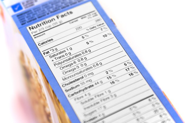 New Nutrition Facts Label on Cereal Box