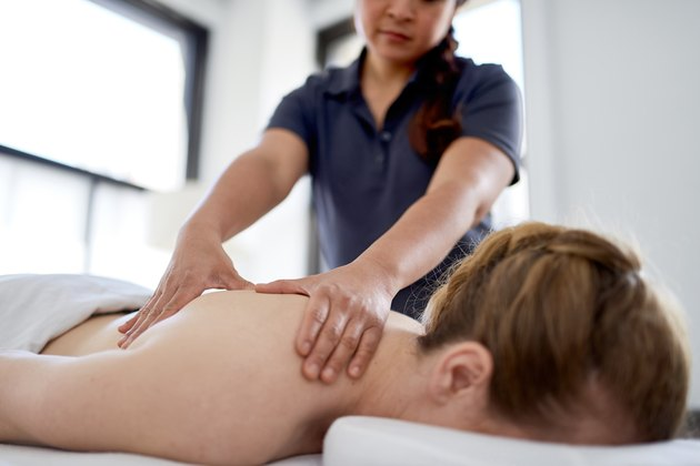 A woman receiving a Chinese massage