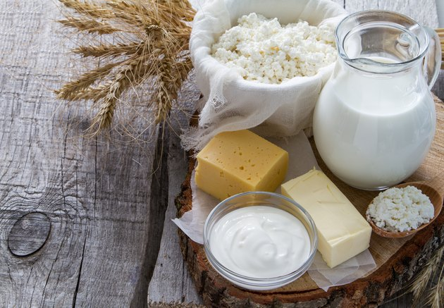 Fresh dairy products (milk, cottage cheese, cheese, butter, sour cream)