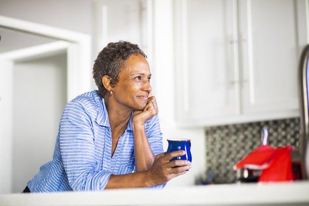 Senior Black Woman with Coffee