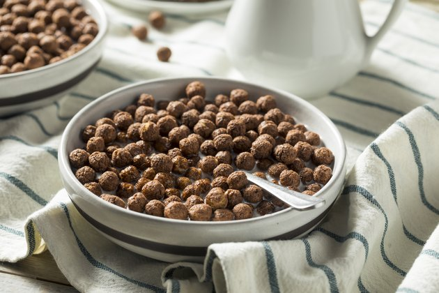 Sweet Cocoa Chocolate Sugar Cereal Puffs