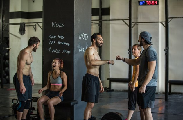 People motivating each other to keep going during the 30-day burpee challenge