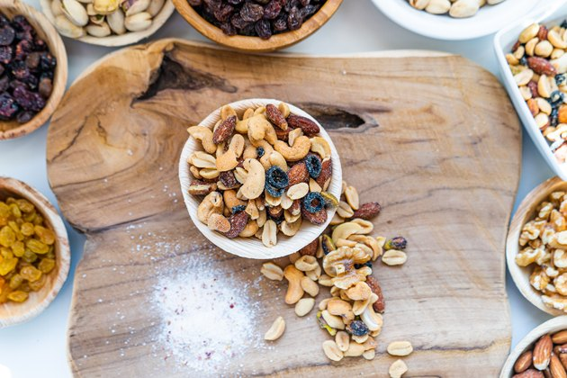 many nuts healthy fat and protein food and snack, ketogenic diet food