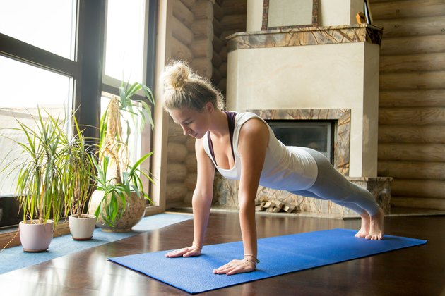 Yoga at home: plank pose