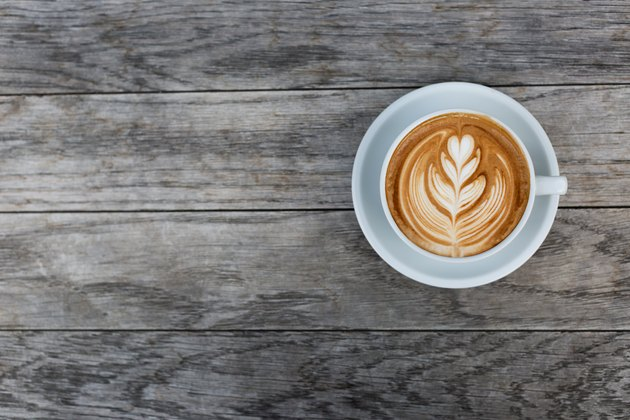 A cup of cappuccino with latte art