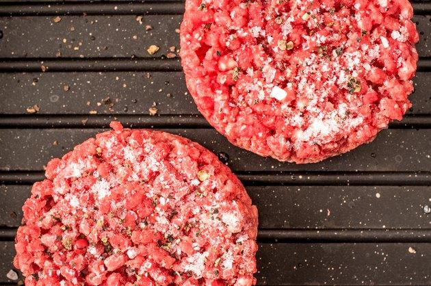 Frozen hamburger