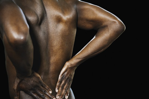 Close up of African man's bare back
