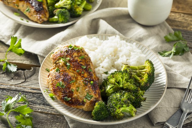 Healthy Homemade Chicken Breast and Rice