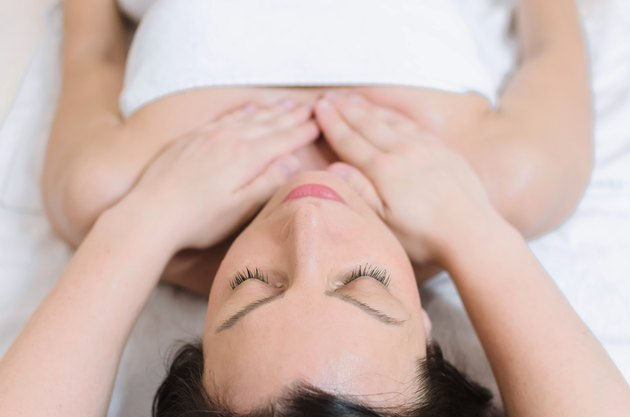 Chest massage at spa