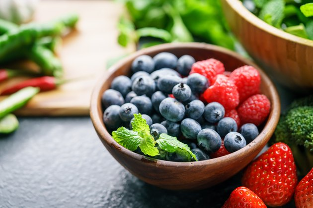 Mixed berries and vegetables