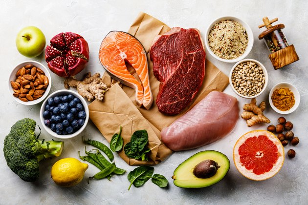 Balanced diet Organic Healthy food Clean eating selection Including Certain Protein Prevents Cancer