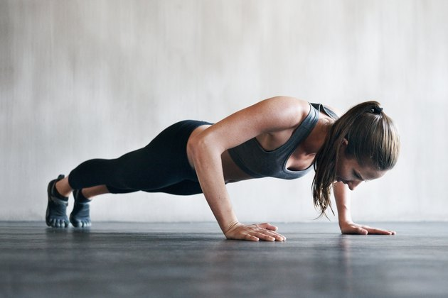 If you do pushups before bed, focus on having correct form.
