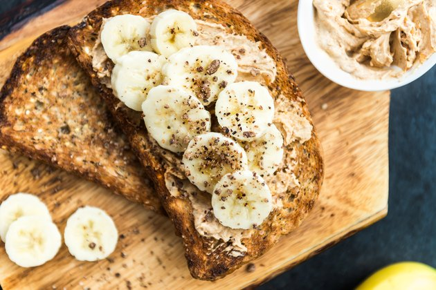 Sprouted Bread with Peanut Butter and Banana