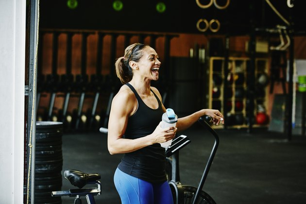 Woman in a gym with her CrossFit gear