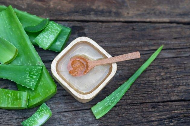 Fresh aloe vera stem