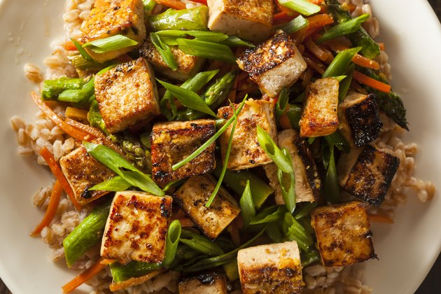 Homemade Tofu Stir Fry healthy meat substitutes
