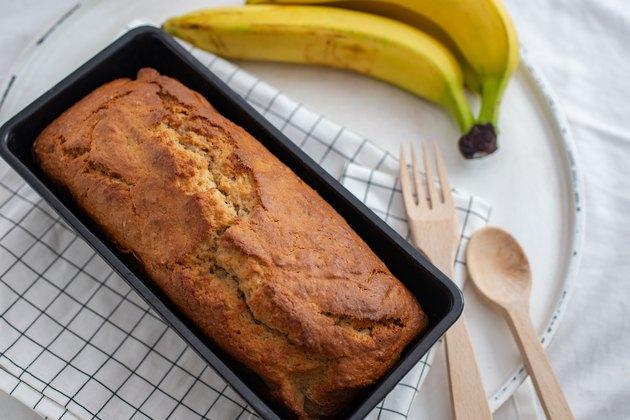 Baking healthy banana bread