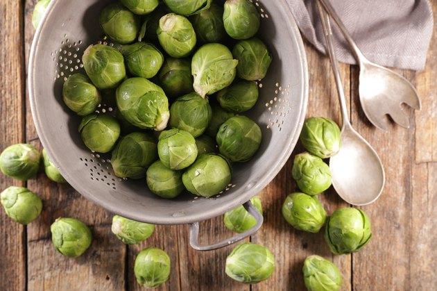 raw brussels sprouts- top view